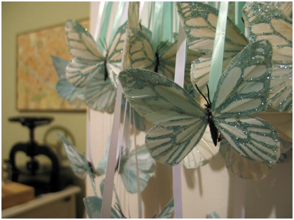 tulle butterfly decoration