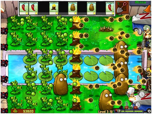 Plants vs. Zombies Screens